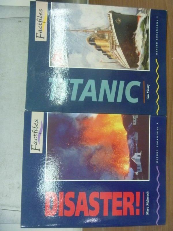 【書寶二手書T7/語言學習_MNE】Titanic_Disaster_2本合售