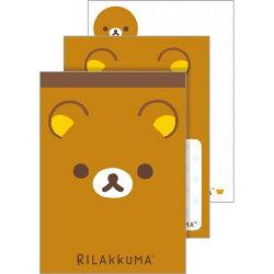 【真愛日本】18022400019 日製懶熊新版小便條-大臉咖 san-x 拉拉熊 懶熊 便條紙 便條本