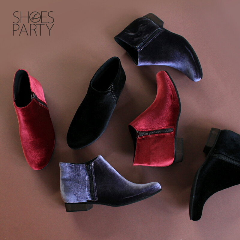 【B2-17110F】側拉鍊短筒靴_Shoes Party 0