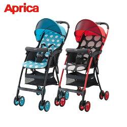 買就送【Aprica 愛普力卡】最輕量單向四輪嬰幼兒手推車 Magical Air S 高視野 (92555/92557)