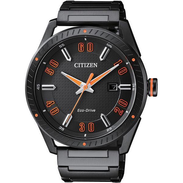 CITIZEN星辰錶BM6998-88E時尚光動能炫黑風腕錶黑42mm