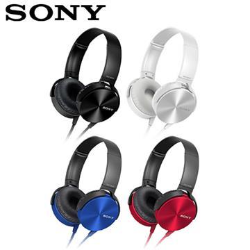 【SONY】MDR-XB450AP 耳罩式重低音立體聲耳機 黑/白/藍/紅
