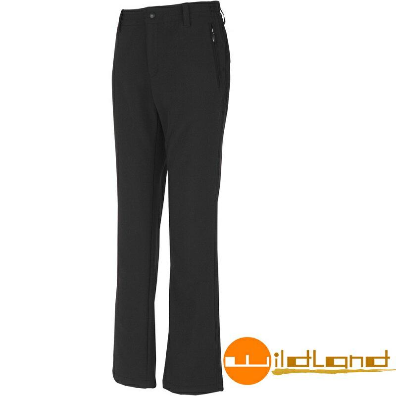 【【蘋果戶外】】荒野 W2309-54 Wildland 黑 女 SOFTSHELL保暖長褲/透氣保暖/彈性纖維/抗靜電/休閒長褲