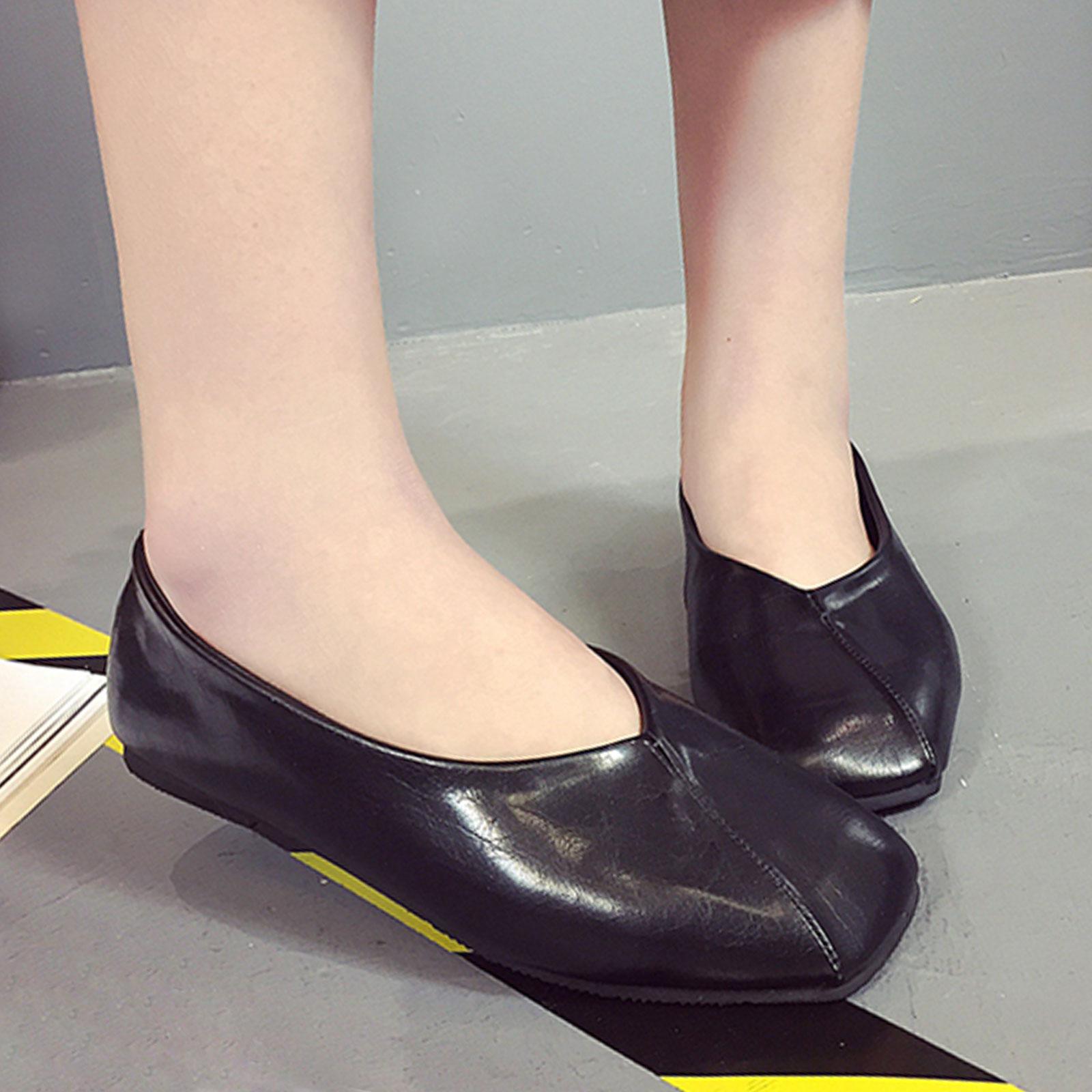 懶人鞋 奶奶鞋 韓版復古淺口方頭懶人鞋【S1681】☆雙兒網☆ 3