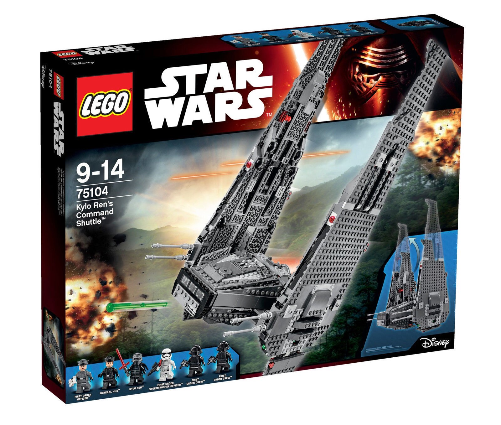 【瞎買天堂x現貨免運】樂高 LEGO 75104 星際大戰 凱羅忍者指揮戰艦【TYLESW03】