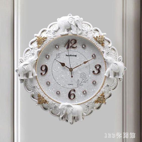 鐘表掛鐘客廳家用時尚個性石英鐘創意北歐式搖擺大氣掛墻時鐘AW17704