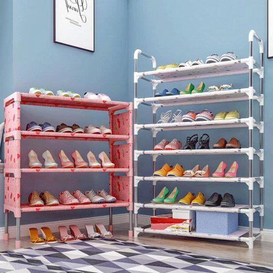 簡易多層鞋架家用收納鞋櫃省空間經濟型簡約現代組裝