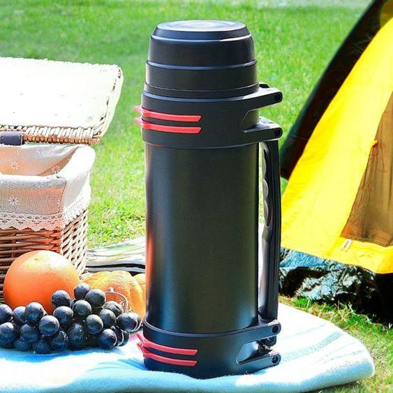 保溫杯大容量男保溫壺不銹鋼戶外便攜2L升旅行水壺暖熱保溫瓶