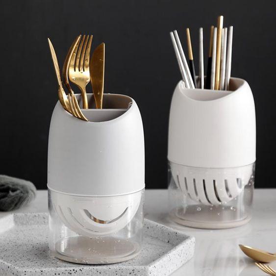 筷子籠家用筷子勺子置物架廚房餐具收納盒創意筷子籠可瀝水筷子筒