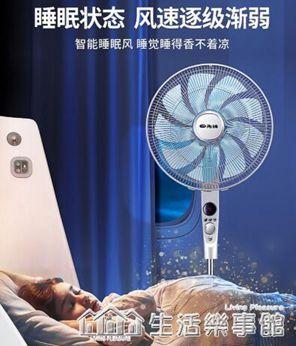 電風扇落地遙控家用搖頭電扇9葉立式靜音臺式定時大風力風扇220v