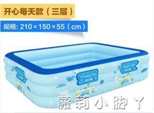 泳池歐培兒童游泳池充氣加厚成人小孩寶寶泳池超大型水池家庭家用室內NMS