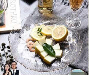 水果盤創意北歐風格糖果盆現代客廳茶幾家用玻璃干果盤網紅零食盤