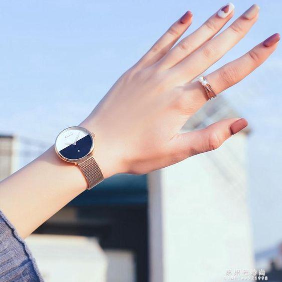 手錶女學生百搭復古簡約防水森女系潮ins風原宿法版小眾輕奢女錶
