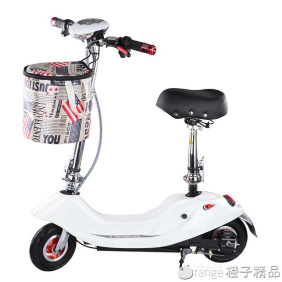 小海豚小型折疊迷你電動車成人女士自行車兩輪代步車電瓶車滑板車
