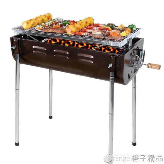 大號燒烤爐戶外便攜全套家用5人以上加厚木炭BBQ工具木炭燒烤架