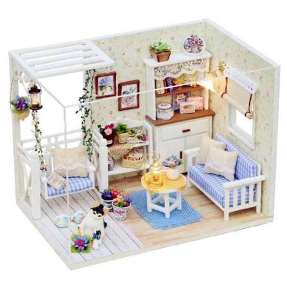 diy小屋小貓日記建築模型公主小屋手工拼裝房子兒童節禮物