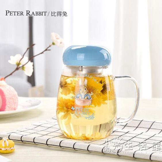 創意水杯玻璃杯便攜泡茶杯隨手杯花茶杯辦公女帶蓋過濾