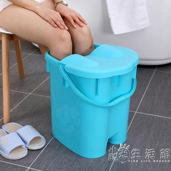 泡腳桶高深同款到小腿足浴盆過膝蓋加高養生塑料便攜桶