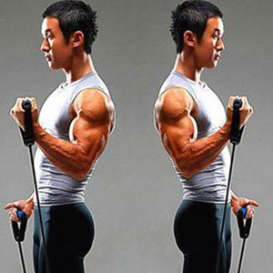 家用多功能拉力繩一字彈力繩力量訓練臂力胸肌彈力帶男女健身器材??