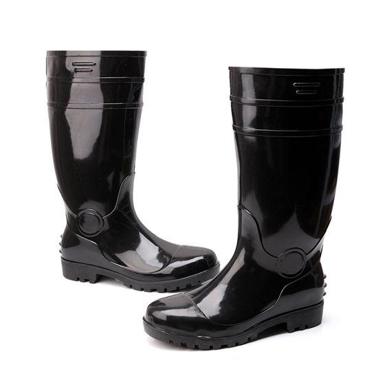 雨鞋高筒勞保帶鋼頭防砸雨靴防滑防水耐酸堿超大碼男水鞋39-48碼