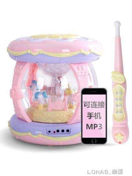 寶寶手拍鼓嬰兒玩具嬰幼兒童音樂拍拍鼓可充電1-3歲大號多功能