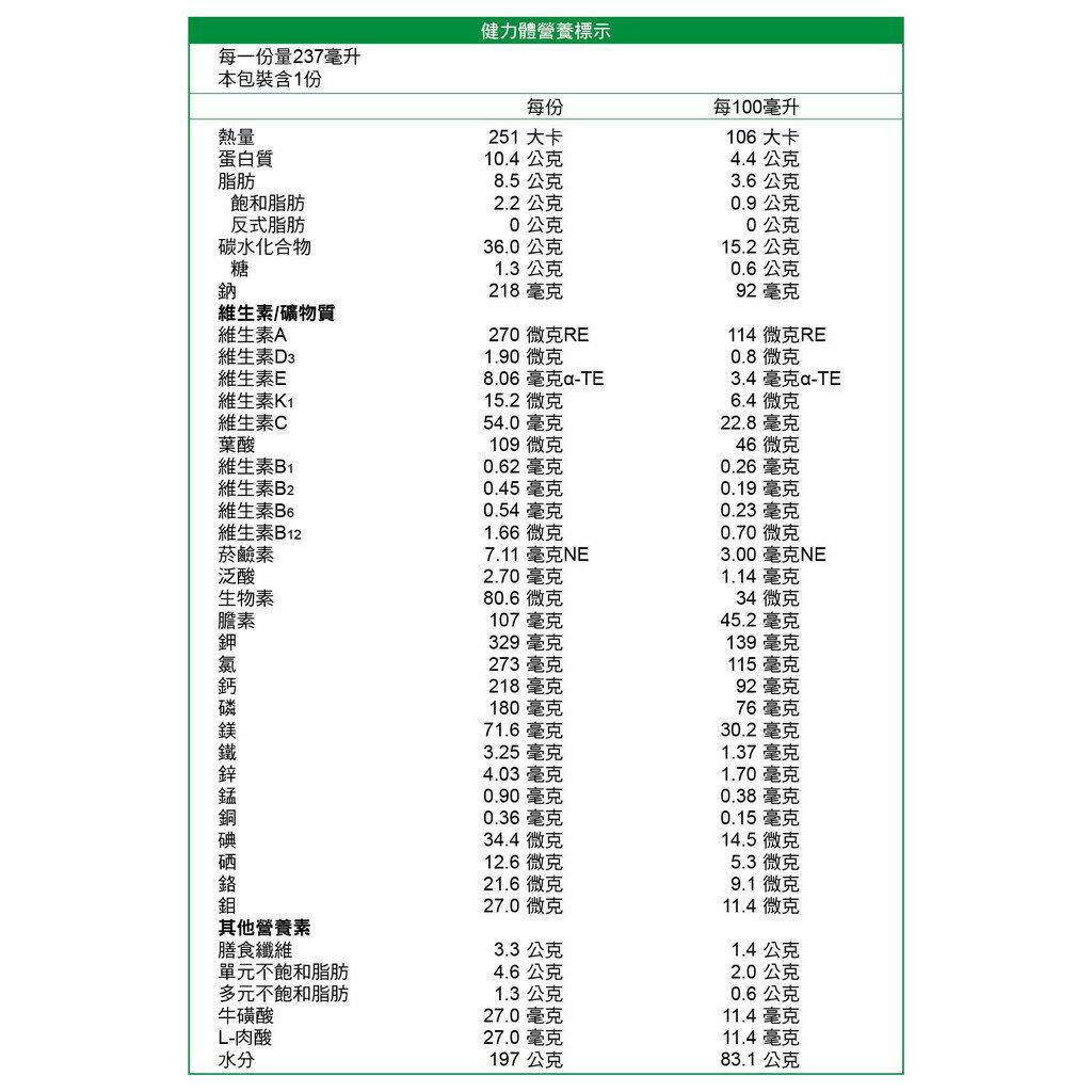 亞培 健力體 (237ml/24罐/箱)【杏一】