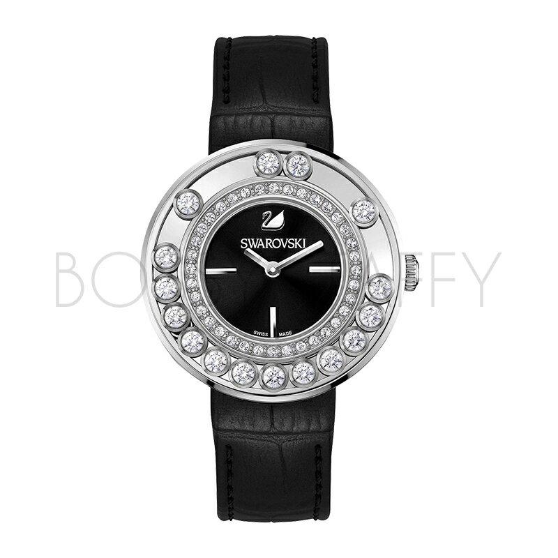 SWAROVSKI 施華洛世奇 Lovely Crystals 奢華水鑽設計腕錶 1160306 沉穩黑