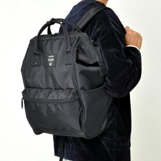 後背包 日系anello純色全黑限定版背包