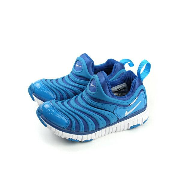 HUMAN PEACE:NIKEDYNAMOFREE(PS)毛毛蟲鞋好穿舒適布鞋童鞋藍色中童343738-419no007