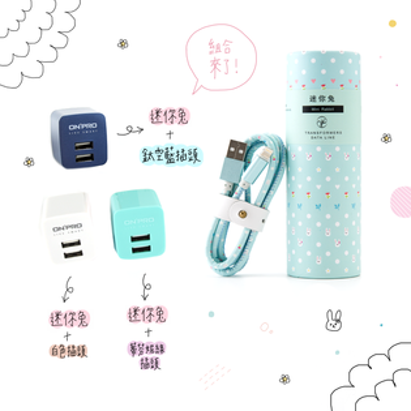 迷你兔🐰充電傳輸線+插頭傳輸線充電頭生日禮物情人節iphonei6sea9r9i7plus