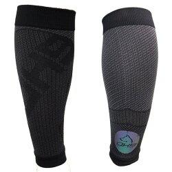 台灣品牌 OH9 慢跑系列---涼感壓力小腿套-黑色