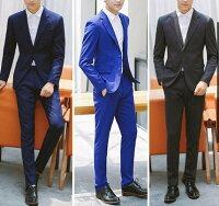 男生面試服裝穿著西裝推薦到FINDSENSE品牌 韓國男 三件式西裝外套 成套西裝 修身西裝 西裝外套 外套+襯衫+褲子就在FINDSENSE服飾推薦男生面試服裝穿著西裝