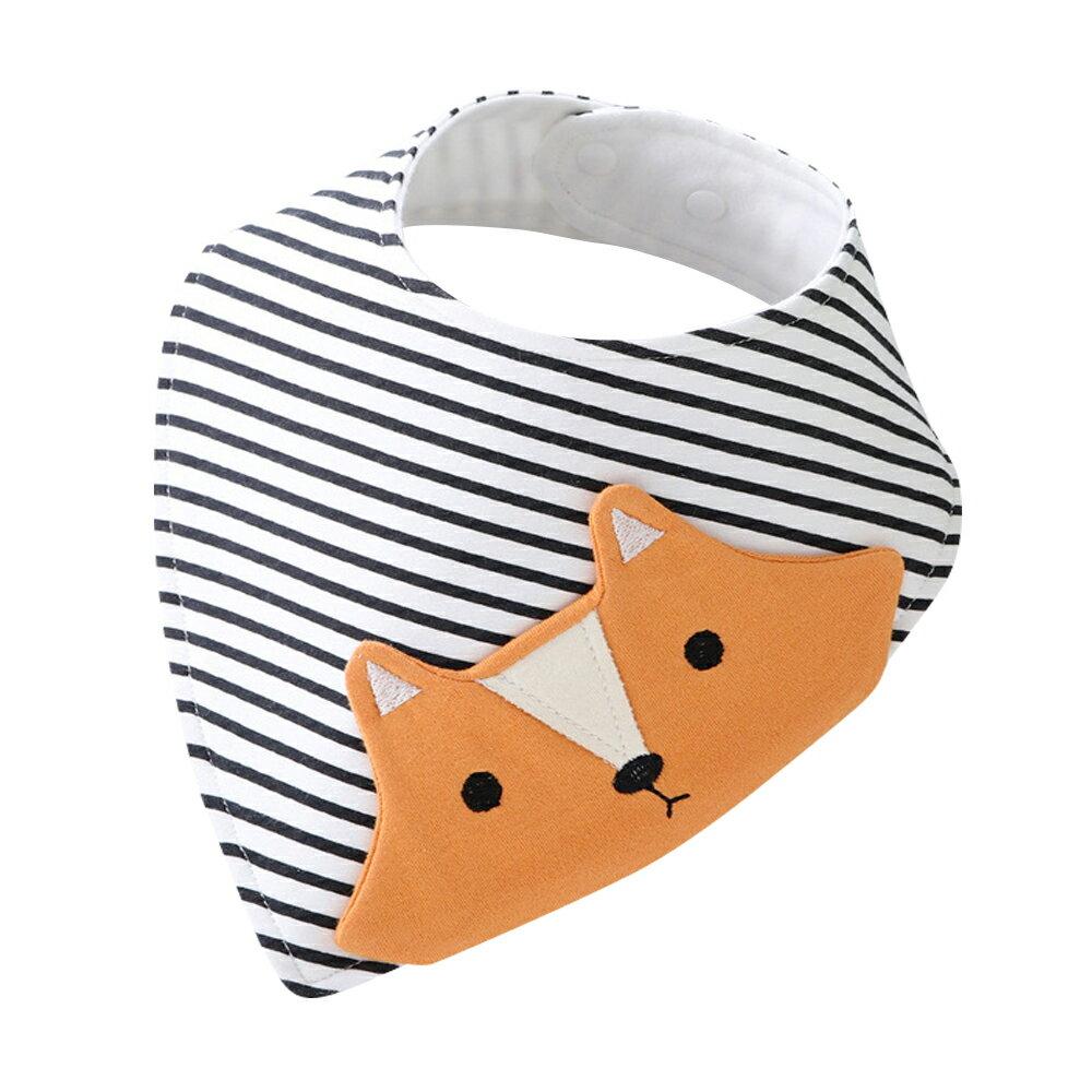 圍兜 口水巾 純棉立體造型圍兜 三角巾-JoyBaby