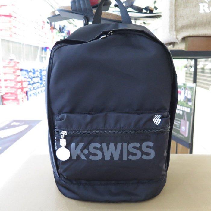 【iSport愛運動】K-SWISS KS LOGO BACKPACK 尼龍 雙肩後背包 BG030- 三色 黑藍粉
