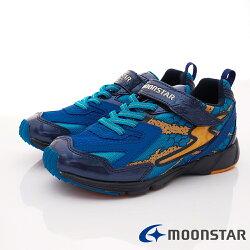 日本月星頂級競速童鞋 2E勝戰獸運動系列 SSJ8375藍(中大童段)