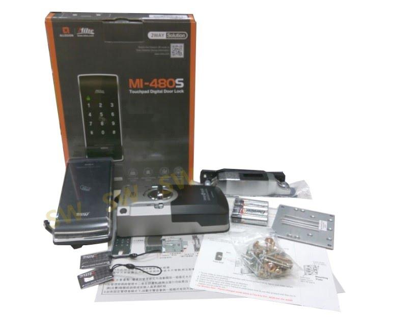 Milie美樂 MI-480S 觸控式密碼鎖 密碼+卡片/悠悠遊卡 感應鎖 智能鎖 輔助鎖 門鎖 三星電子鎖
