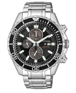 CITIZEN星辰CA0711-80H極黑時尚光動能計時腕錶銀黑41mm