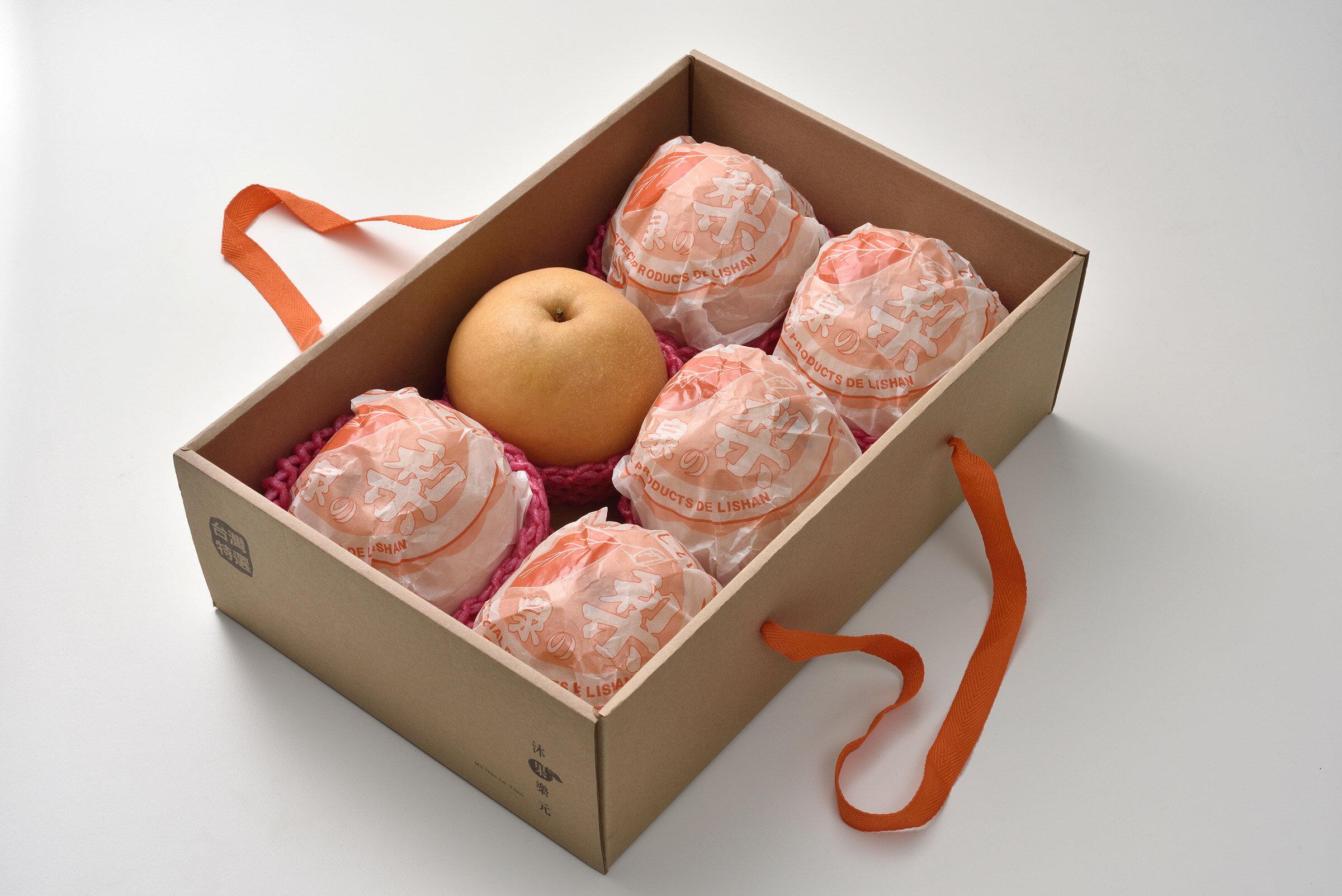 《沐果樂元》台中東勢新興梨(6顆/禮盒裝,每顆平均600g±5% )