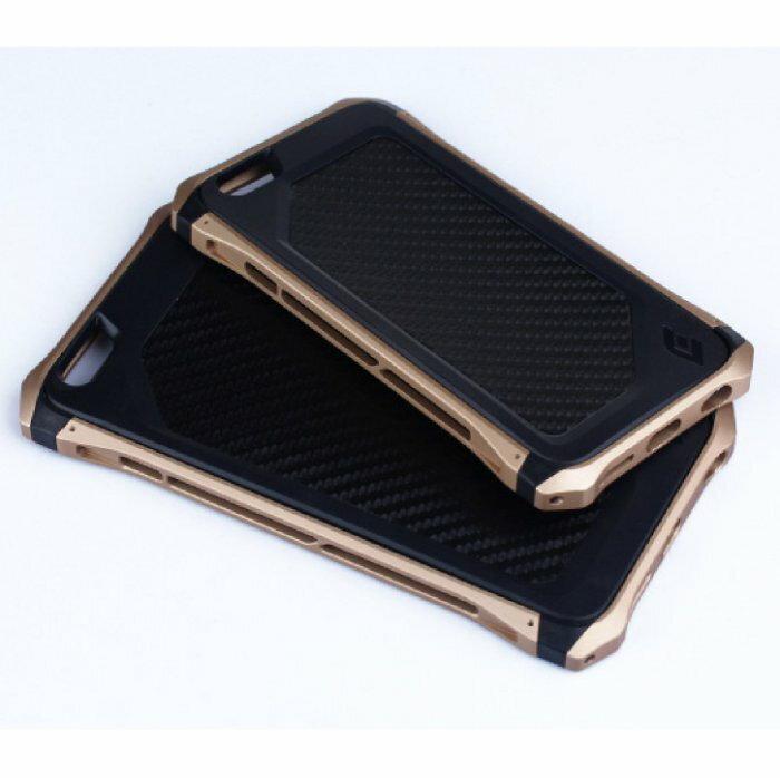 ~當日出貨~iPhone6 Plus 防摔超輕碳纖維金屬邊框手機殼 碳纖維 背蓋 手機殼