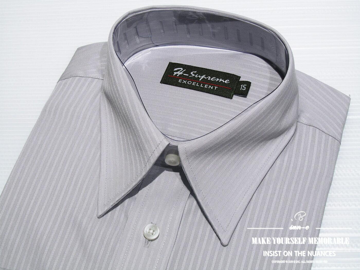 腰身剪裁正式襯衫 直條紋襯衫 舒適標準襯衫 面試襯衫 上班族襯衫 商務襯衫 長袖襯衫 不皺免燙襯衫 (322-3794)淺藍直條紋、(322-3795)淺灰直條紋 領圍:15~18英吋 [實體店面保障] sun-e322 6