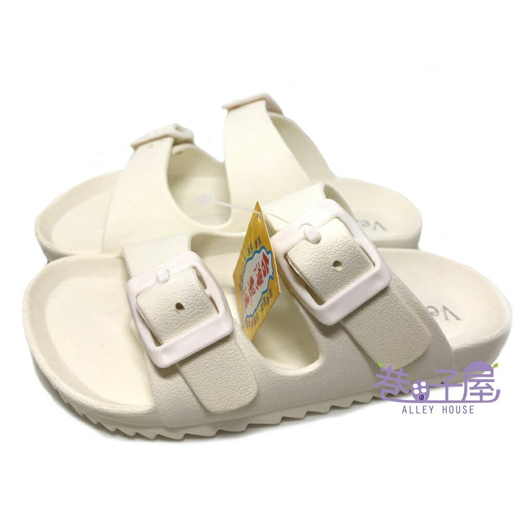 【巷子屋】童款一體成型防水勃肯拖鞋 白色 MIT台灣製造 [2616] 超值價$198