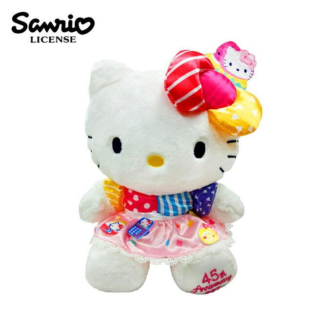 【正版授權】凱蒂貓 45周年 絨毛玩偶 20cm 娃娃 Hello Kitty 三麗鷗 Sanrio - 007156