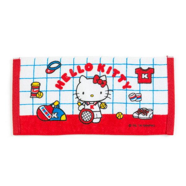 【真愛日本】4901610383070純棉毛巾-KT復古網球ACQ凱蒂貓kitty三麗鷗毛巾盥洗毛巾