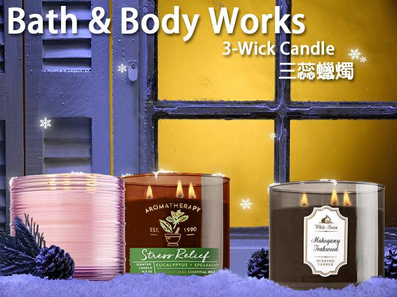 【彤彤小舖】Bath & Body Works 薰香蠟燭 三蕊燭芯 彩色玻璃系列 411g BBW美國原廠