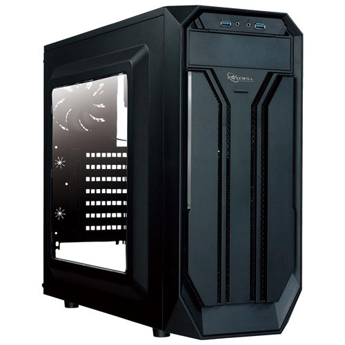 ATX Mid Tower Gaming Case With Window Panel, Three Fans Pre-Installed, USB 3.0 x 2 1308fd77815295ab03c7917fca179f5d