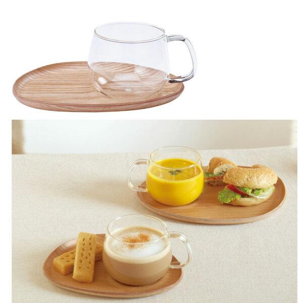 KINTO咖啡甜點木質茶盤杯組日本帶回