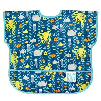 美國【Bumkins】兒童短袖防水圍兜 -海洋朋友 BKU-190 (1-3歲) - 限時優惠好康折扣