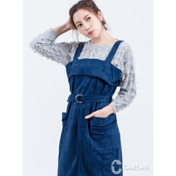 CANTWO:CANTWO流蘇混紡毛衣(共三色)