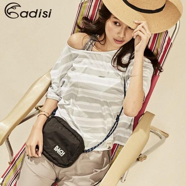 ADISI女短袖COOLMAX沁涼條紋休閒造型TAL1811054(S~XL)城市綠洲專賣(微冰涼感、輕薄柔軟、透氣、易洗快乾)