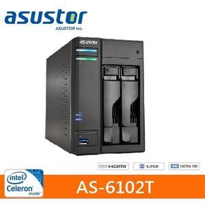 【綠蔭-免運】ASUSTOR華芸AS-6102T2Bay網路儲存伺服器